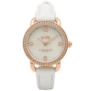 Coach Delancey White Dial Leather Strap Ladies Watch 14502453