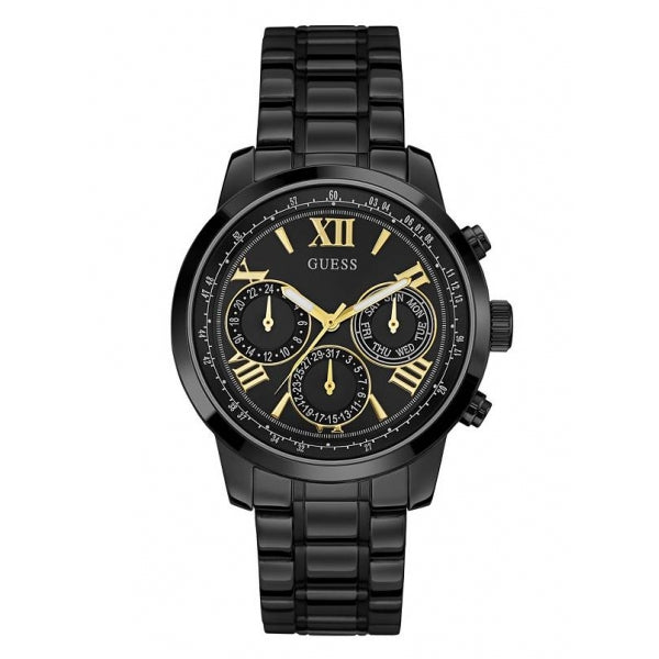 Guess Sunrise Black Dial Stainless Steel Ladies Watch W0330L15