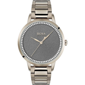 Hugo Boss Grey Dial Stainless Steel Ladies Watch 1502463