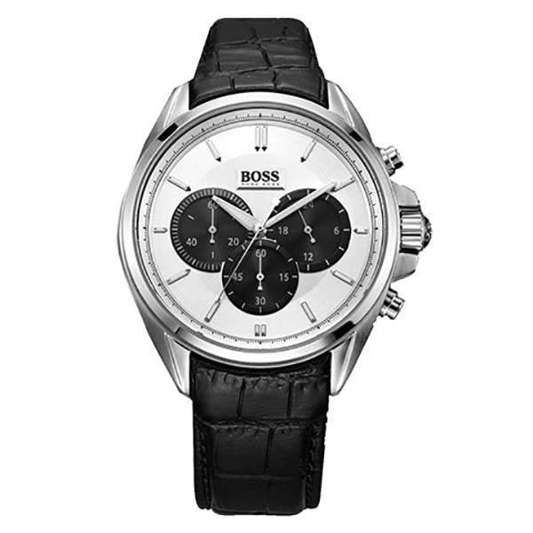 Hugo Boss Chronograph Silver Dial Men's Watch 1512880 Water resistance: 50 meters / 165 feet Movement: Quartz