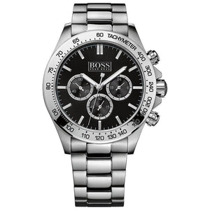 Hugo Boss Ikon Chronograph Black Dial Men's Watch 1512965 Water resistance: 100 metres Movement: Quartz