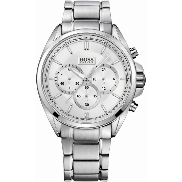 Hugo Boss Driver Chronograph Silver Dial Men's Watch 1513039 Water resistance: 50 meters / 165 feet Movement: Quartz