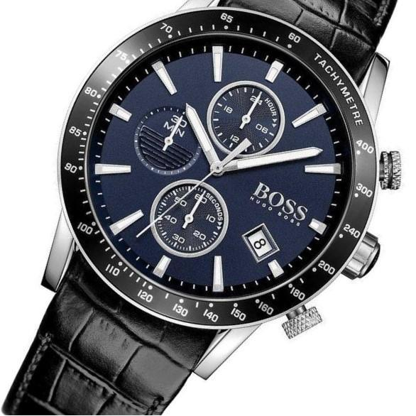 Hugo Boss Rafale Chronograph Blue Dial Men's Watch 1513391 Water resistance: 50 meters / 165 feet Movement: Quartz