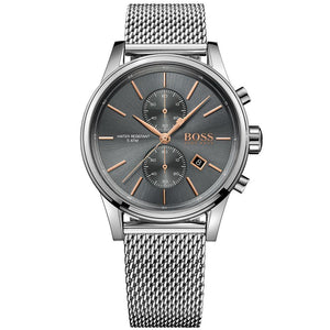 Hugo Boss Jet Chronograph Grey Dial Men's Watch Water resistance: 50 meters / 165 feet Movement: Quartz
