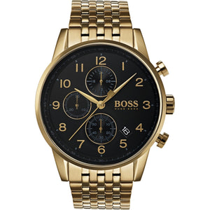 Hugo Boss Navigator Chronograph Black Dial Men's Watch Water resistance: 50 meters Movement: Quartz