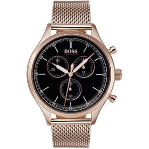 Hugo Boss Companion Chronograph Black Dial Men's Watch Water resistance: 50 meters Movement: Quartz