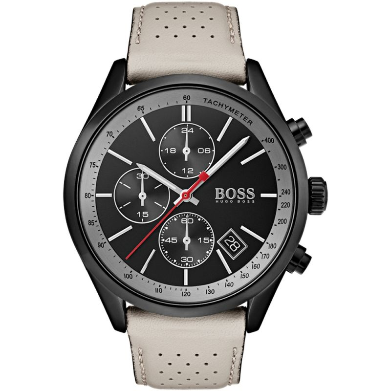 Hugo Boss Grand Prix Chronograph Black Dial Men's Watch 1513562 Water resistance: 30 meters Movement: Quartz