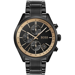 Hugo Boss Grand Prix Chronograph Black Dial Men's Watch 1513578 Water resistance: 30 meters Movement: Quartz