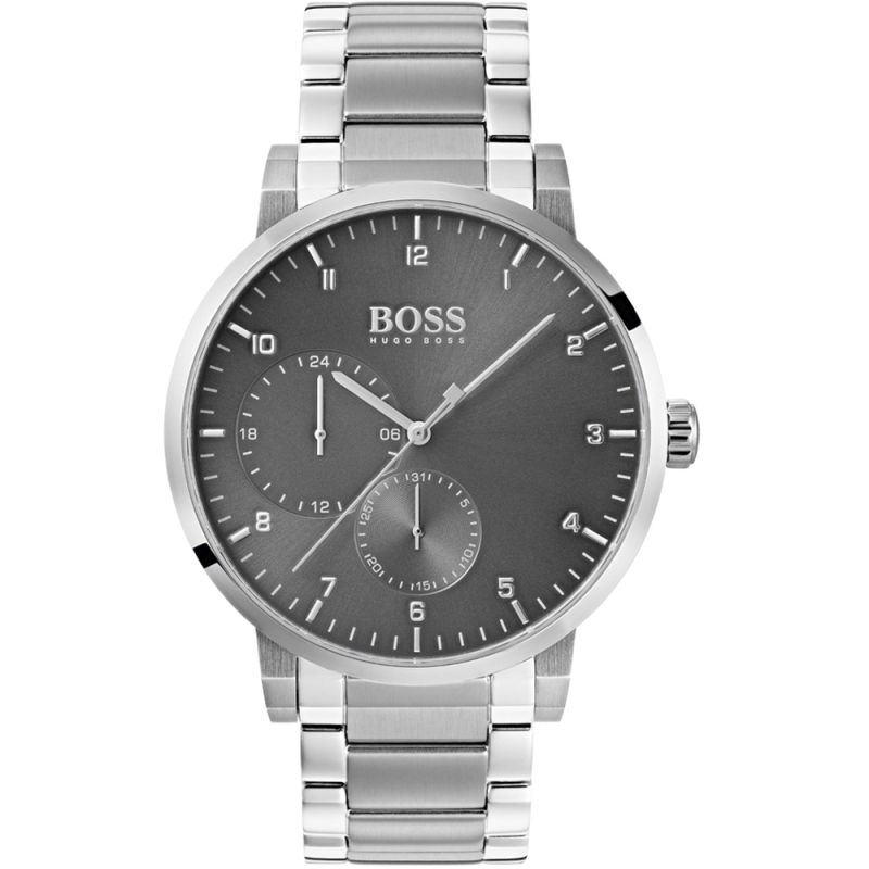 Hugo Boss Oxygen Grey Dial Stainless Steel Men's Watch 1513596 Water resistance: 30 meters Movement: Quartz
