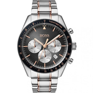 Hugo Boss Trophy Chronograph Grey Dial Men's Watch 1513634 Water resistance: 50 meters Movement: Quartz