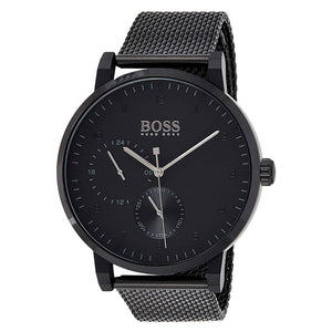 Hugo Boss Oxygen Black Dial Stainless Steel Men's Watch 1513636 Water resistance: 30 meters Movement: Quartz