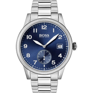 Hugo Boss Blue Dial Stainless Steel Men's Watch 1513707 Water resistance: 50 meters Movement: Quartz