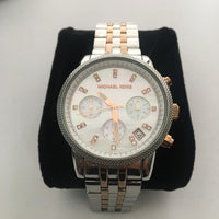 Michael Kors Bradshaw Chronograph Dial Two-tone Ladies Watch MK5525