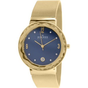 Skagen Leonora Gold-Tone Stainless Steel Mesh Ladies Watch SKW2181