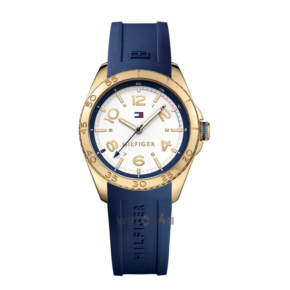 Tommy Hilfiger White Dial Silicone Strap Ladies Watch 1781637
