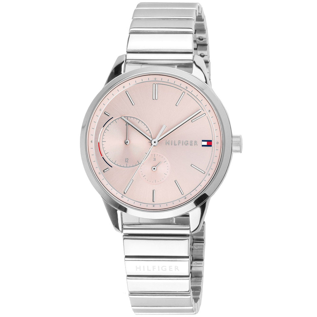 Tommy Hilfiger Brooklyn Pink Dial Stainless Steel Ladies Watch 1782020