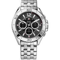 Tommy Hilfiger Grant Black Dial Stainless Steel Men's Watch 1791047