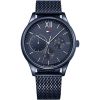 Tommy Hilfiger Blue Dial Stainless Steel Mesh Men's Watch 1791421