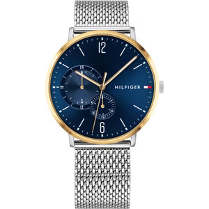 Tommy Hilfiger Blue Dial Stainless Steel Mesh Men's Watch 1791505