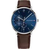 Tommy Hilfiger Blue Dial Leather Strap Men's Watch 1791508