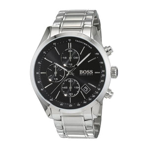 Hugo Boss Grand Prix Chronograph Black Dial Men's Watch 1513477 Water resistance: 30 meters Movement: Quartz