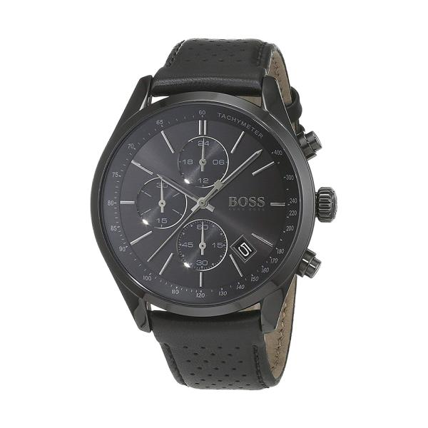 Hugo Boss Grand Prix Chronograph Black Dial Men's Watch 1513474 Water resistance: 30 meters Movement: Quartz