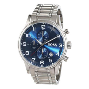 Hugo Boss Aeroliner Chronograph Blue Dial Men's Watch 1513183 Water resistance: 50 meters / 165 feet Movement: Quartz