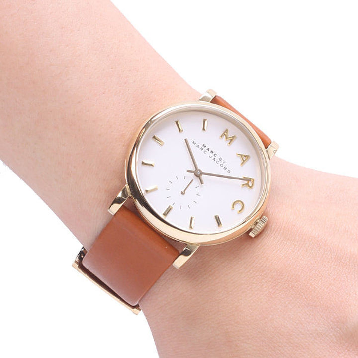 Marc Jacobs Baker Tan Leather Strap 36mm Ladies Watch MBM1316