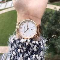Marc Jacobs Silver Dial Rose Gold-Tone 36mm Ladies Watch