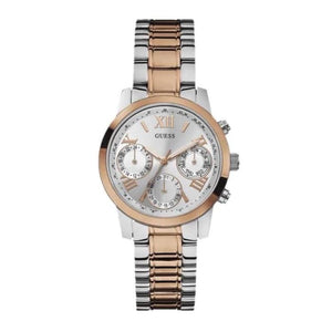 Guess Mini Sunrise Multi-Function Two-Tone Ladies Watch W0448L4