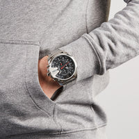 Diesel Mega Chief DZ4308 316L Silver-tone stainless Steel 10ATM (100m) water resistant 4 Time zones (GMT)