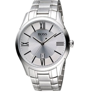 Hugo Boss Silver Dial Stainless Steel Men's Watch 1513024