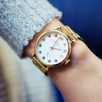 Marc Jacobs Online Baker White Dial Gold-tone 36mm Ladies Watch