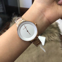 Skagen Ditte Silver Dial Rose Gold-tone Ladies Watch SKW2331