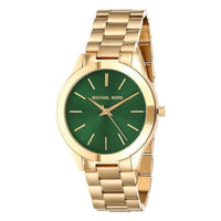 Michael Kors Slim Runway Green Dial Ladies Watch MK3435 - Big Daddy Watches