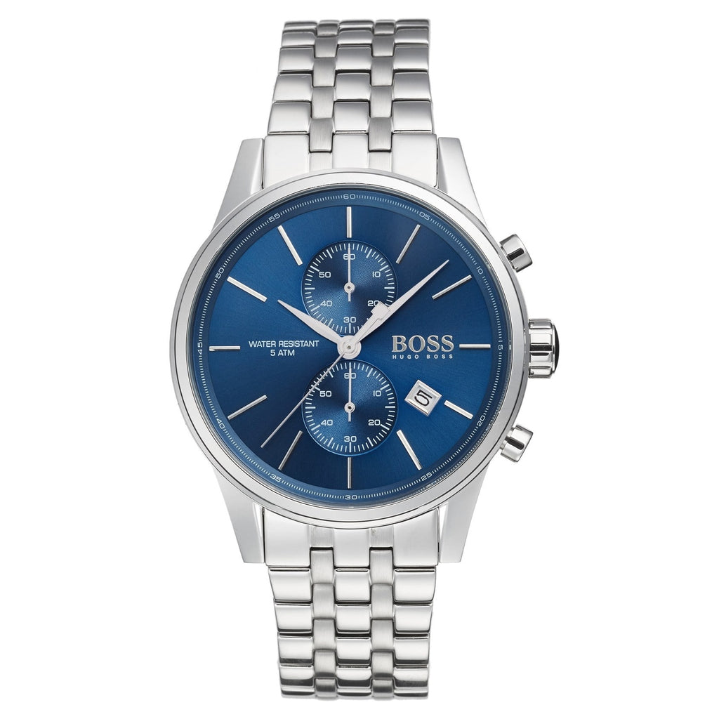Hugo Boss Blue Dial Stainless Steel Men's Watch 1513384 Water resistance: 50 meters / 165 feet Movement: Quartz