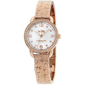Coach Delancey Silver Dial Rose Gold-Tone Ladies Watch 14502355