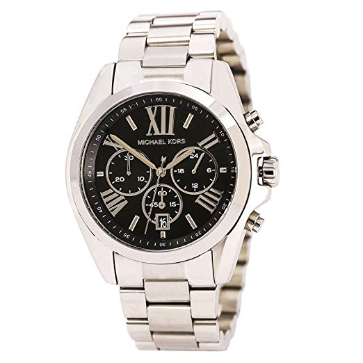 Michael Kors Bradshaw Chronograph Black Dial Silver-tone Unisex Watch MK5705 Water resistance: 100 Meters Movement: Quartz