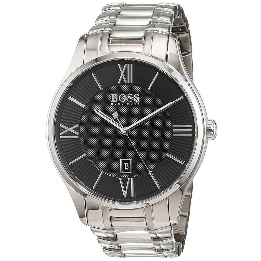 Hugo Boss Governor Black Dial Stainless Steel Men's Watch 1513488 Water resistance: 30 meters / 100 feet Movement: Quartz
