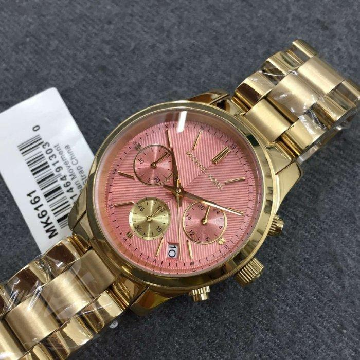 Michael Runway Pink Dial Gold-tone Ladies Watch MK6161