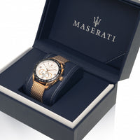 Maserati Traguardo Chronograph White Dial Men's Watch R8873612011