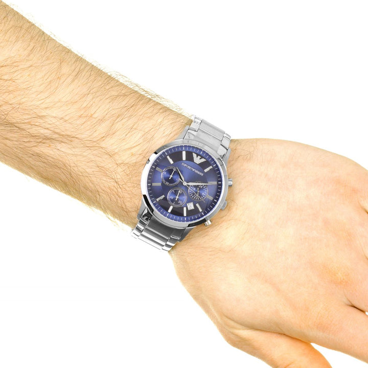 Emporio Armani Chronograph Navy Blue Dial Men's Watch AR2448 Water resistance: 50 meters / 165 feet Movement: Quartz
