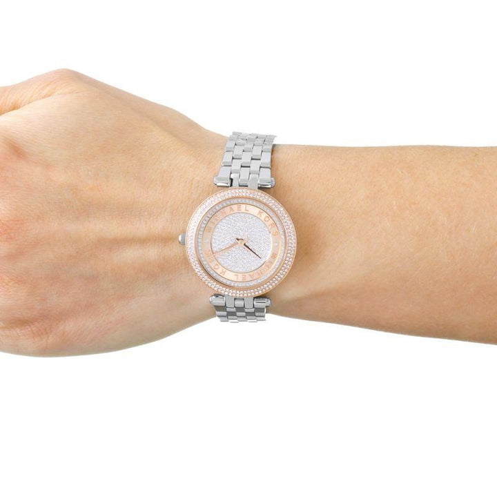 Michael Kors Darci Pave Dial Two-tone Ladies Watch MK3446