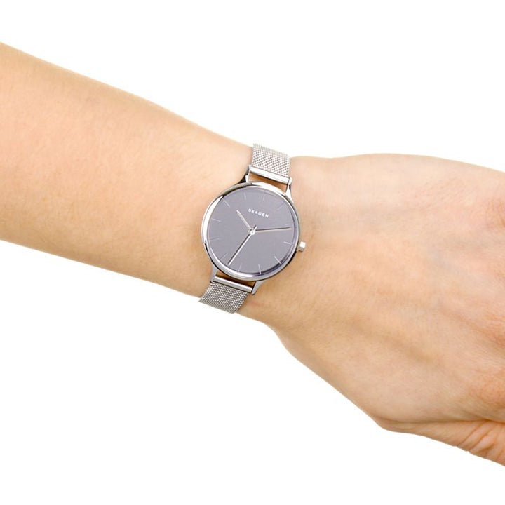 Skagen Anita Silver Dial Stainless Steel Mesh Ladies Watch SKW2410