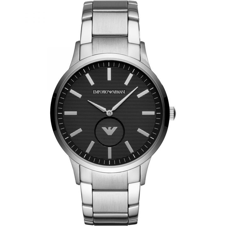 Emporio Armani Renato Black Dial Men's Watch