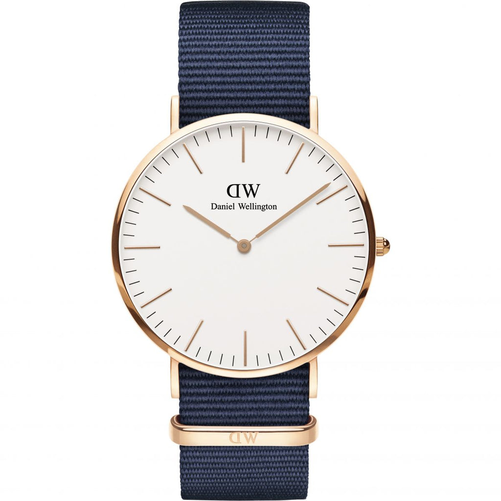 Daniel Wellington White Classic Bayswater 40mm Men's Gold Watch DW00100275 - Big Daddy Watches
