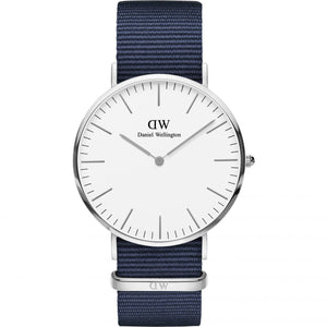 Daniel Wellington White Classic Bayswater 40mm Men's Silver Watch DW00100276 - Big Daddy Watches