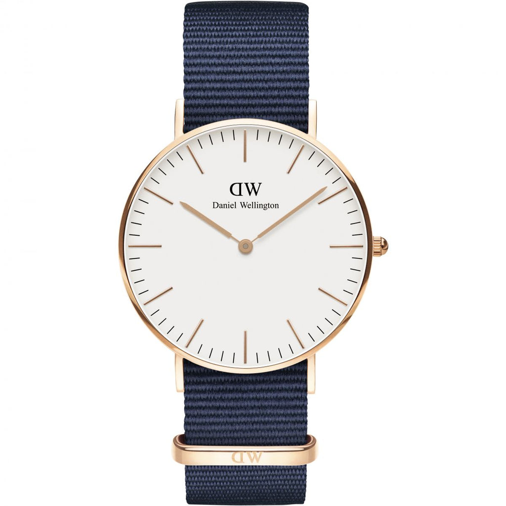 Daniel Wellington White Classic Bayswater 36mm Women's Gold Watch DW00100279 - Big Daddy Watches