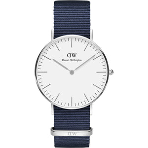 Daniel Wellington White Classic Bayswater 36mm Women's Silver Watch DW00100280 - Big Daddy Watches