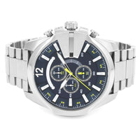 Diesel Mega Chief DZ4465 316L silver stainless steel 10ATM (100m) water-resistant Japan movement with chronograph and date function